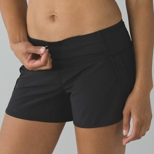 Lululemon Run Times Shorts 4 Inch Black Size 6